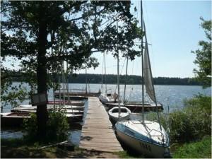 Obóz żeglarski w Staczach
