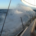 Rejs morski z Rygi. S/y Dunajec na fali.